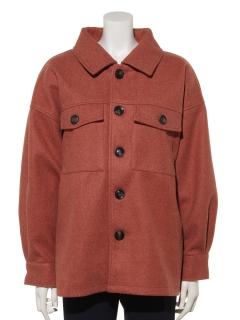 杢フェイクウールオーバーサイズジャケット