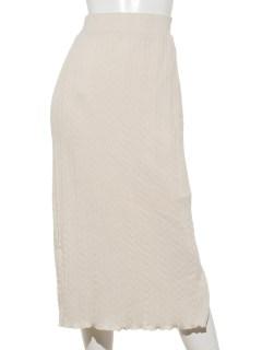 ケーブル柄ニットソータイトスカート