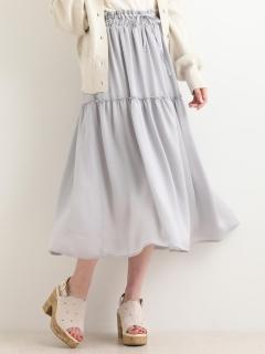 ウエストシャーリングギャザースカート