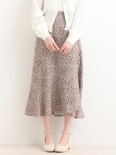 ラップ風フレアスカート