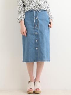 フロントボタンIラインスカート