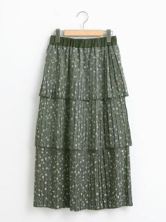 フラワー3段ティアードスカート