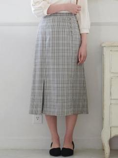 スソヒラチェックIラインスカート
