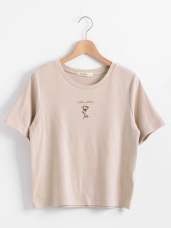 フラワーポイントTシャツ