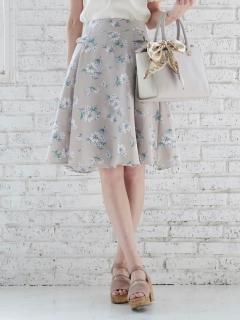 水彩画風フラワースカート
