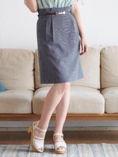 ハートパールベルト付スカート