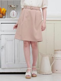パールバックルIラインスカート