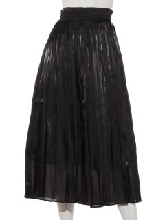光沢デシンギャザースカート