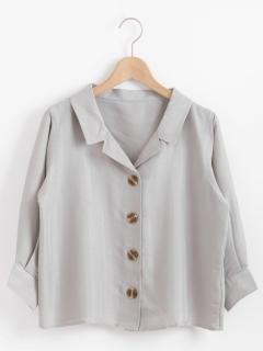 開襟レトロボタンシャツ