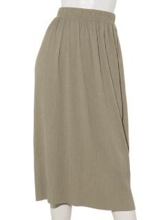 リブプリーツタイトスカート
