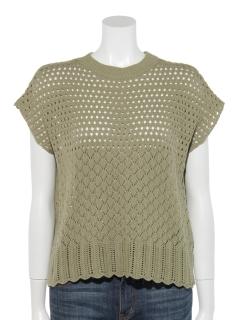 透かし編みフレンチプルオーバー