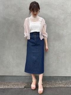 ロングIラインスカート
