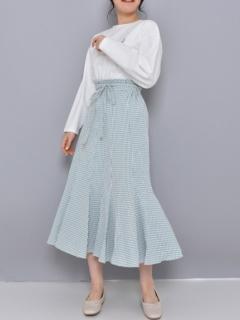 ∞ギンガムマーメイドスカート