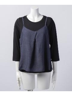 キャミ×7分袖Tシャツアンサンブル