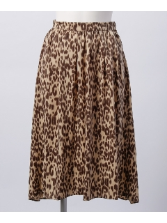 レオパード柄フレアースカート