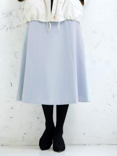 サイドボタンフレアスカート
