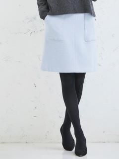 ウールブークレー台形スカート