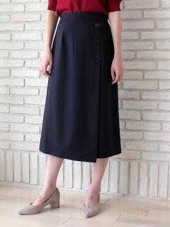 ラップ風ロングタイトスカート