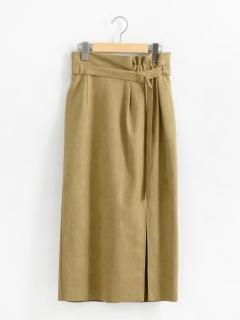 ベルト付きフェイクスエードタイトスカート