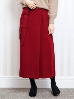 リボンベルトラップ風ロングスカート