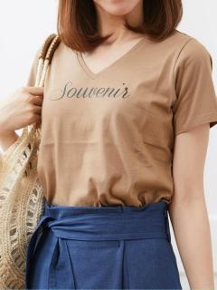 VロゴプリントTシャツ