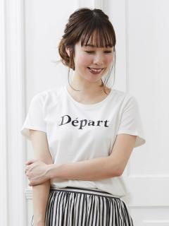 クルーロゴプリントTシャツ