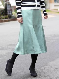 カラーサテンマーメイドスカート