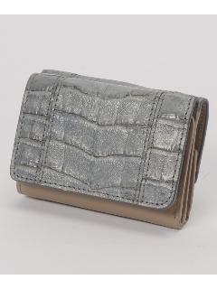 ヘンローン社クロコ 小型折財布
