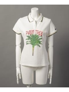 パームツリープリントポロシャツ
