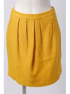 変わり織ツィードタックコクーンスカート