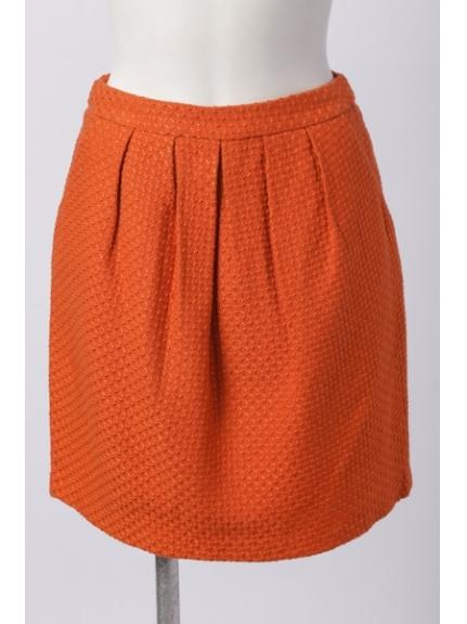 Rope' Picnic (ロペピクニック) 変わり織ツィードタックコクーンスカート オレンジ