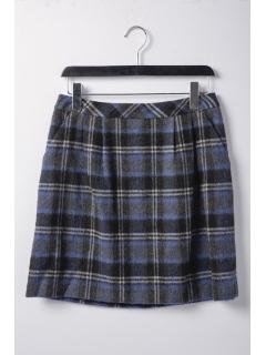 シャギーチェック柄スカート