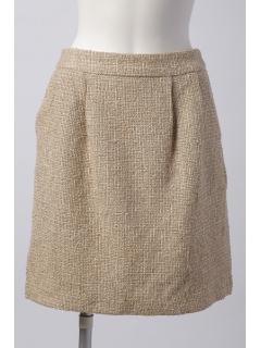 ツイードタックコクーンスカート