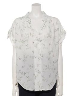 花柄ヒラリボンシャツ