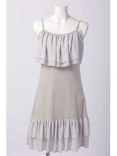 胸元・裾2枚フリル インナーキャミワンピース