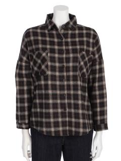 ドロップショルダーチェックシャツ