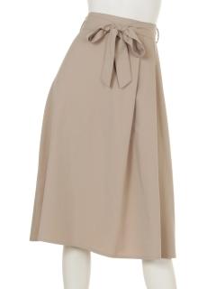 ウエストリボン プリーツスカート