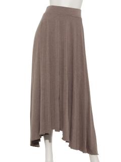 アシメロングフレアースカート