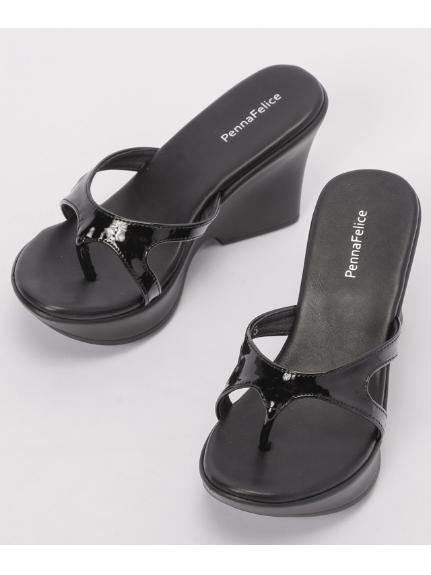 PennaFelice shoes (ペンナフェリーチェシューズ) エナメルミュール ブラック