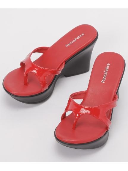 PennaFelice shoes (ペンナフェリーチェシューズ) エナメルミュール レッド