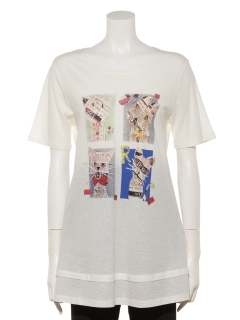 CATプリントTシャツ