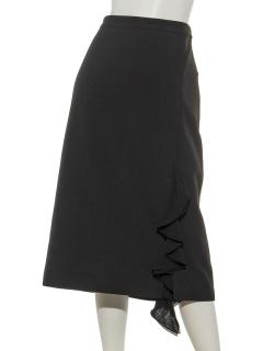 ラッフルアクセントセミタイトスカート