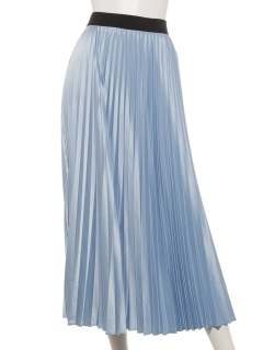 サテンシャイニープリーツスカート