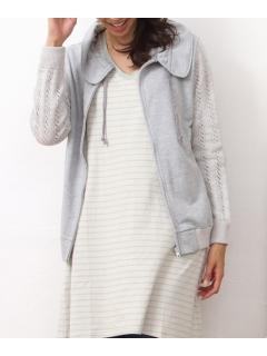 透かし編みパーカーー