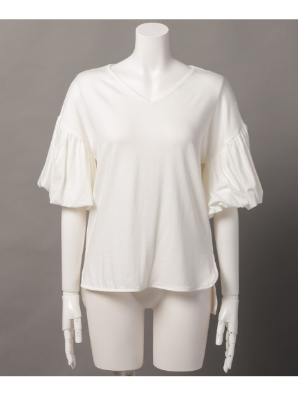 MAX88%OFF Sugar Rose (シュガーローズ) バルーンスリーブ裾前後差Tシャツ ホワイト