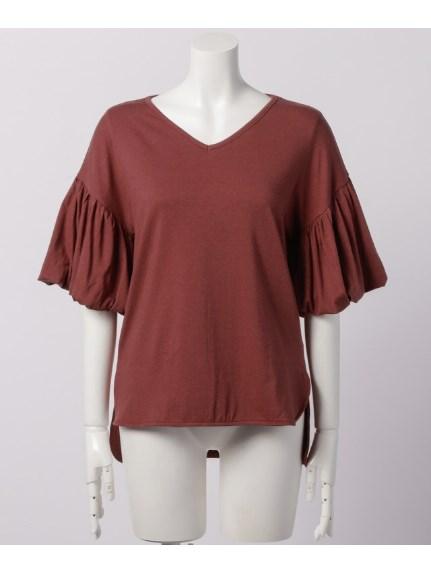 Sugar Rose (シュガーローズ) バルーンスリーブ裾前後差Tシャツ レッド