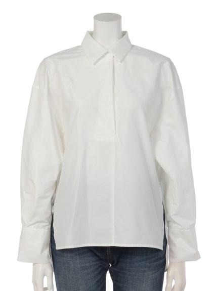 Sugar Rose (シュガーローズ) 袖タックボリュームシャツ オフホワイト