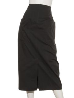 フロントスリット入りタイトスカート