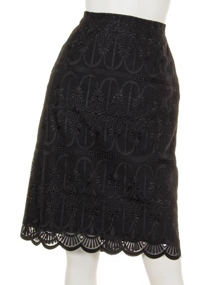 Sugar Rose (シュガーローズ) レースタイトスカート ブラック