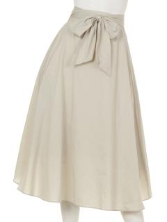ウエストリボン付フレアスカート